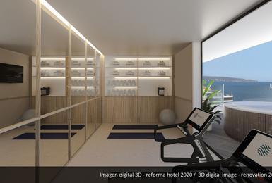 Gimnasio- Reformado en 2020 Hotel AluaSoul Palma (Solo Adultos) Cala Estancia, Mallorca