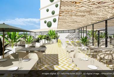 Terraza- Reformado en 2020 Hotel AluaSoul Palma (Solo Adultos) Cala Estancia, Mallorca